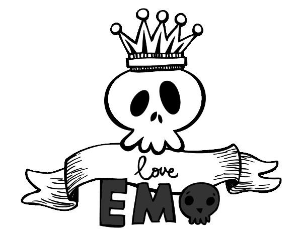Dibujo De Love Emo Pintado Por Laturra En Dibujosnet El Día 01 07