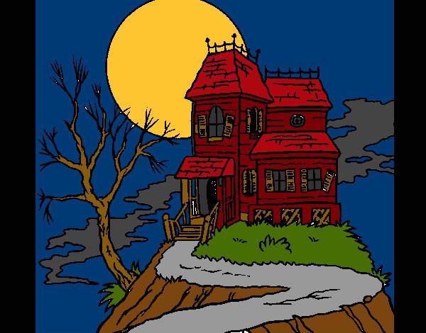 Dibujo de Casa embrujada pintado por Meretseger en Dibujos.net el ...
