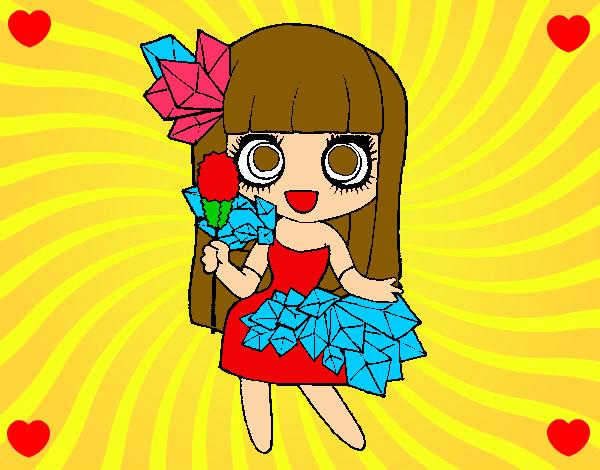 Dibujo De La Nina De Los Diamantes Que Ama Pintado Por Gemilla123 En