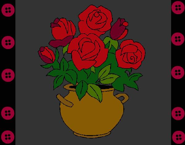 Dibujo De Rosas Rojas Pintado Por Meretseger En Dibujos Net El Dia