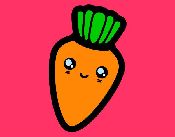 Dibujo De La Zanahoria Tiernita Pintado Por Cami444 En Dibujosnet