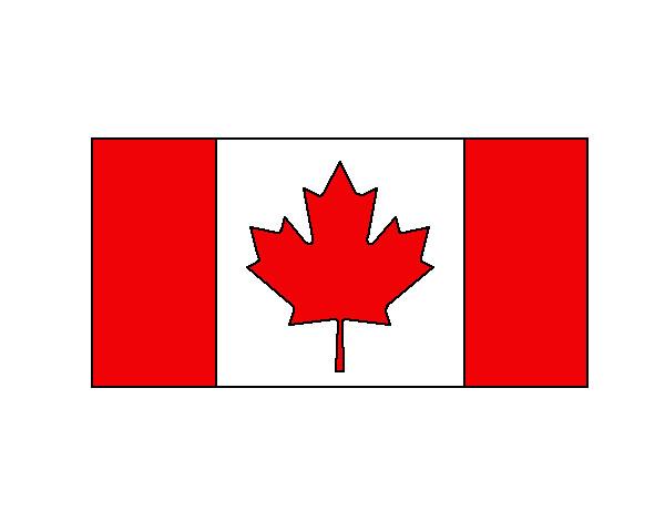 Dibujo De Bandera Canadiense Pintado Por Sereswag En