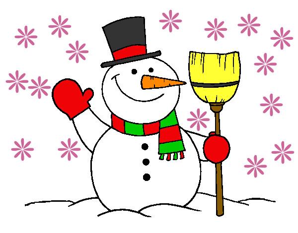 Muñeco De Nieve Dibujo: Dibujo De Muñeco De Nieve Pintado Por M-l-p-c En Dibujos