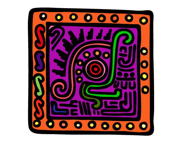 Dibujo De Simbolo Maya Pintado Por Clara60 En Dibujosnet El Día 12