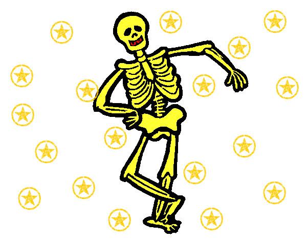 Dibujo de Esqueleto contento pintado por Ivan12600 en Dibujos.net el ...