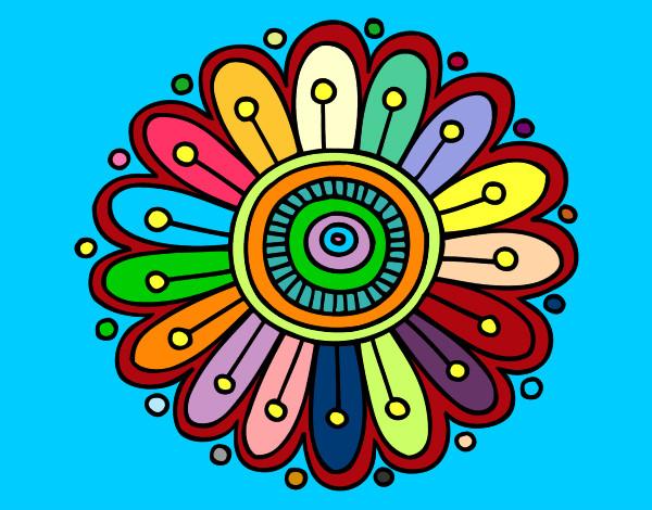 Dibujo de mandala pintado por Lua61 en Dibujosnet el da 230812 a