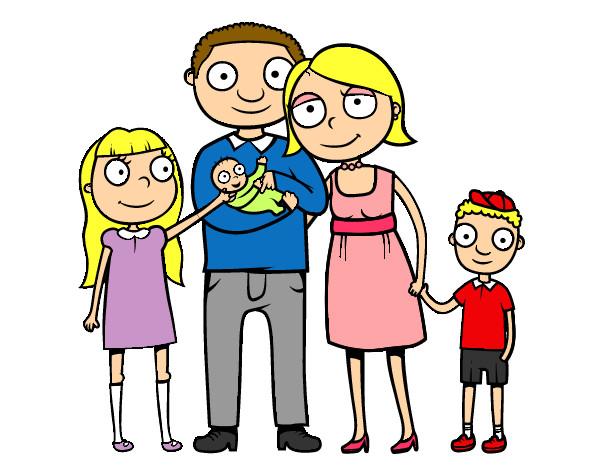 Dibujo De Familia Pintado Por Ciintiia En Dibujos.net El