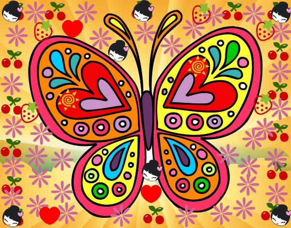 Dibujo de Mandala mariposa pintado por Karlha en Dibujosnet el da