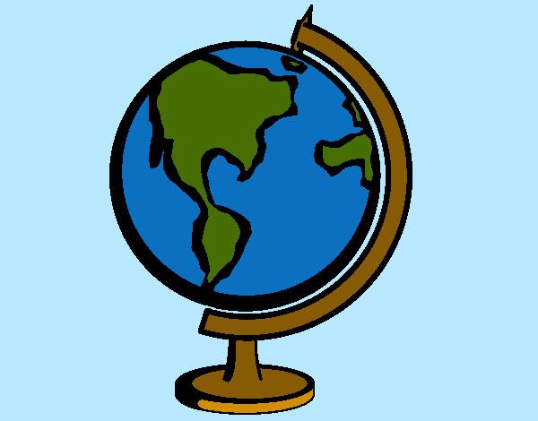 Dibujo de globo terraquio pintado por leoncito12 en el d a 14 09 12 a las 01 26 46 - Bola del mundo decoracion ...