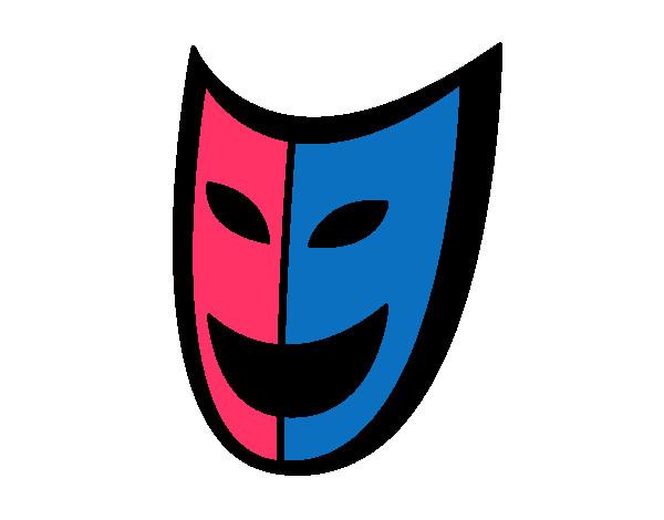 Dibujo De Mi Máscara Del Teatro Pintado Por Chantig En Dibujosnet