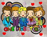 Dibujo One direction pintado por anerol