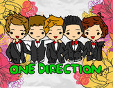 Dibujo One direction pintado por partofme