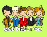 Dibujo One direction pintado por charito
