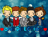 Dibujo One direction pintado por valemp
