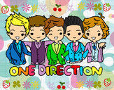 Dibujo One direction pintado por aledany03