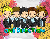 Dibujo One direction pintado por kamikripk