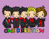 Dibujo One direction pintado por morit