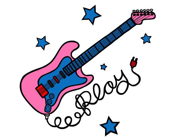 Dibujo De Guitarra Electrica Pintado Por Valrntina En Dibujosnet El
