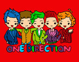 Dibujo One direction pintado por dafnegenia