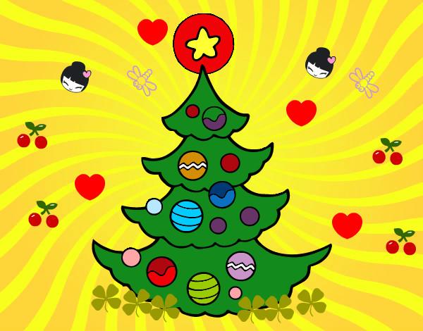 Dibujo De Arbol De Navidad Pintado Por Malexandra En Dibujos