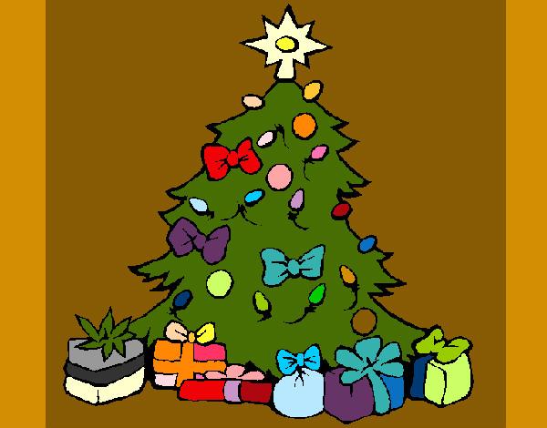 Dibujos De Arboles De Navidad Pintados.Dibujo De Arbolito Pintado Por Aline12 En Dibujos Net El Dia