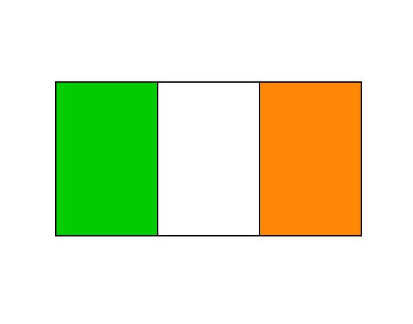 Atractivo Bandera De Irlanda Para Colorear Festooning - Páginas Para ...