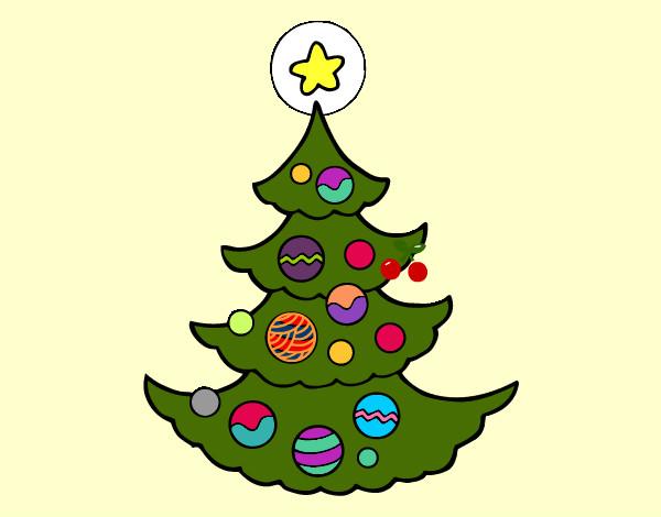 Dibujo De árbol De Navidad Pintado Por Guadita En Dibujos
