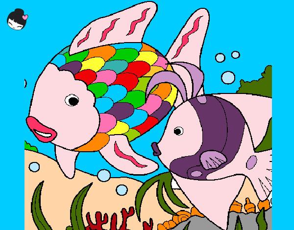 Dibujo De Pez Arcoiris Pintado Por Linda V En Dibujos Net El Dia