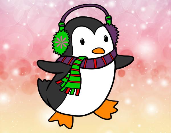 Dibujos De Navidad Muy Bonitos.Dibujo De Un Pinguinito Muy Bonito Pintado Por Clawdeen16 En