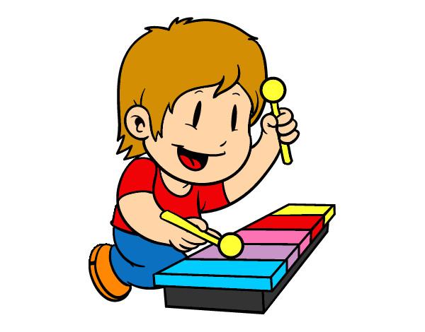 Dibujo de Niño con xilófono pintado por Lukittty en Dibujos.net el día  21-12-12 a las 03:59:05. Imprime, pinta o colorea tus propios dibujos!