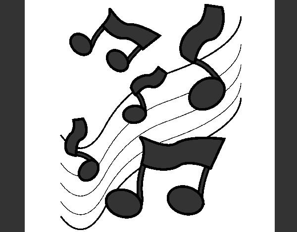 Dibujo de musica blanco y negro pintado por Valenti1 en Dibujos.net ...