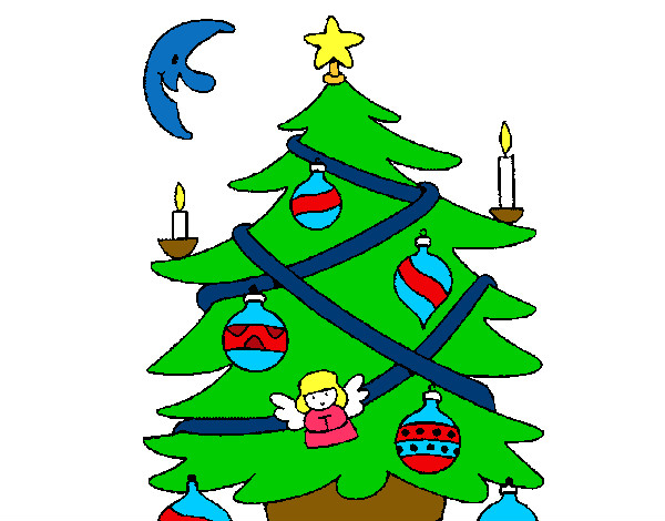 Dibujo De Mi Pino De Navidad Pintado Por Belly En Dibujosnet El