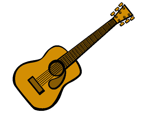 Dibujo de Guitarra acústica (2) pintado por Viktorenge en Dibujos ...