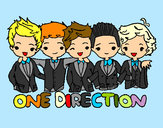 Dibujo One direction pintado por javier2001
