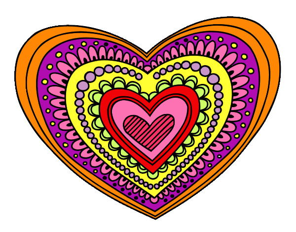 Dibujos De Corazones Coloridos: Dibujo De La Manda La De Corazon Pintado Por Sofikitty En