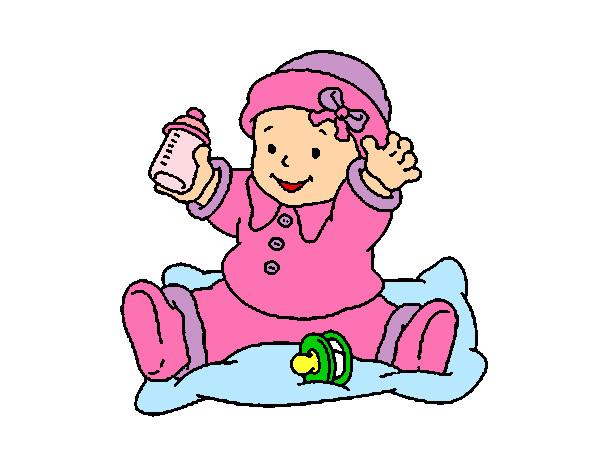 Dibujo De Un Bebe A Color: Dibujo De Mi Nena Sofia Pintado Por Haso En Dibujos.net El