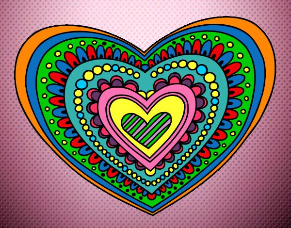 Dibujos De Corazones Coloridos: Dibujo De Corazon De Colores Pintado Por Haso En Dibujos