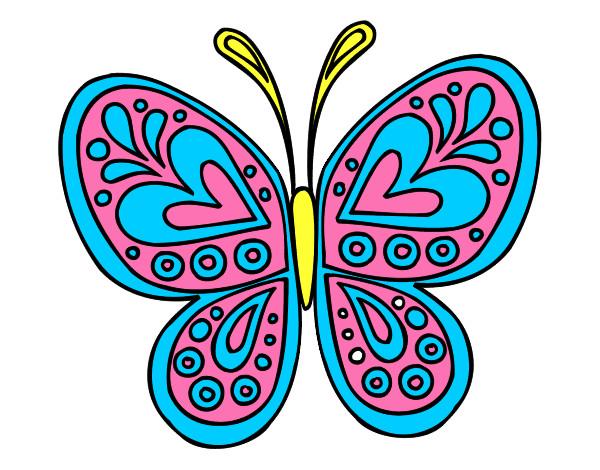 Dibujo De Mi Mariposa Pintado Por Babykaly06 En Dibujosnet