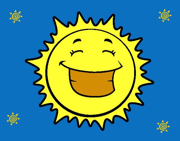 Dibujos Del Sol A Color: Dibujo De Sol Pintado Por Alba2003 En Dibujos.net El Día