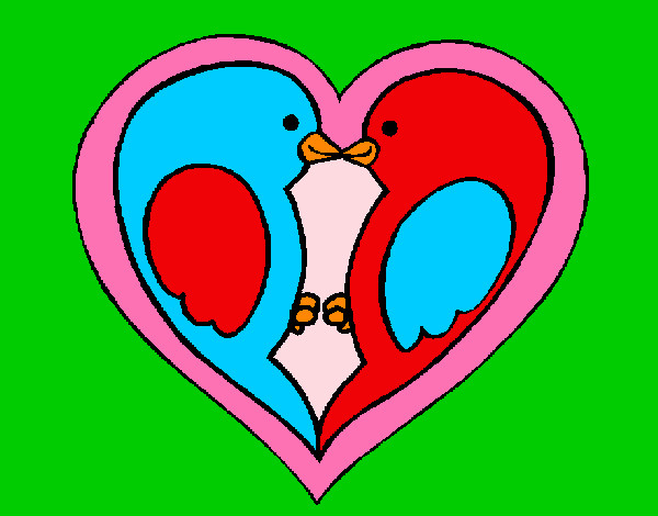 San Valentin Dibujos En Color: Dibujo De San Valentin Pintado Por Mariana233 En Dibujos