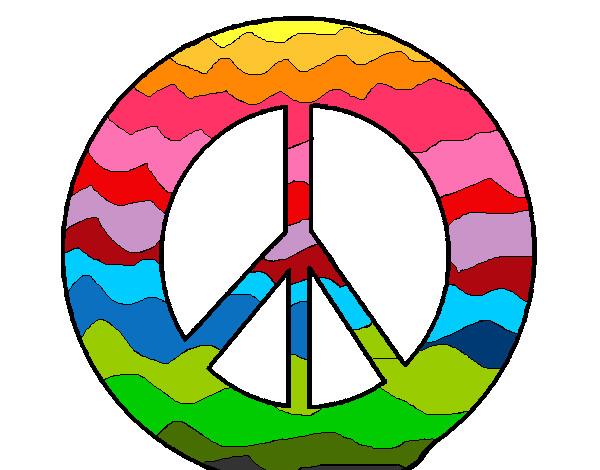 Dibujo De Símbolo De La Paz Pintado Por Leea En Dibujos