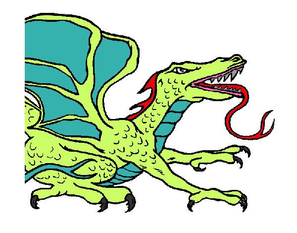 Dibujo De Dragon Lagartija Pintado Por Alan06 En Dibujosnet