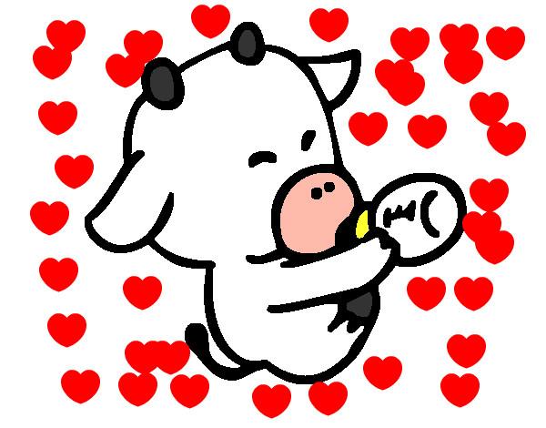 Dibujo de bebe vaca pintado por Rake333 en Dibujos.net el día 05-04 ...