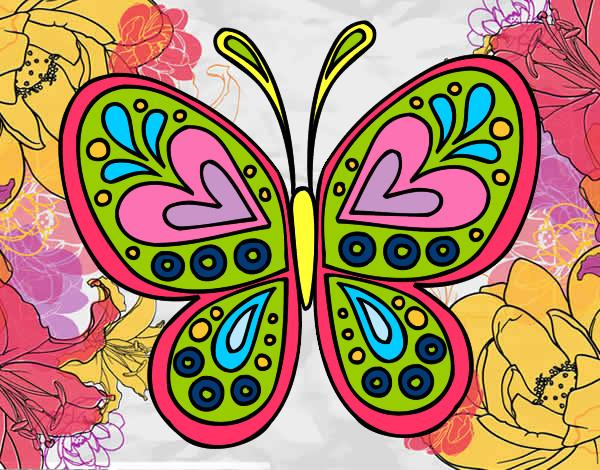 Dibujo De Mariposa Para Colorear En Linea Biblioteca De: Dibujo De Mariposa Pintado Por Nicknoel En Dibujos.net El