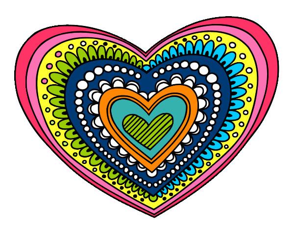 Dibujos De Corazones Coloridos: Dibujo De Corazón De Colorines Pintado Por Nora07 En