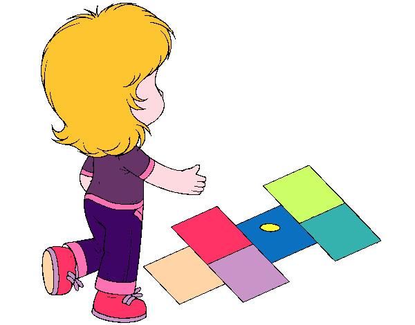 Rayuela Dibujo Para Colorear E Imprimir: Dibujo De Rayuela Pintado Por Gabyta337 En Dibujos.net El