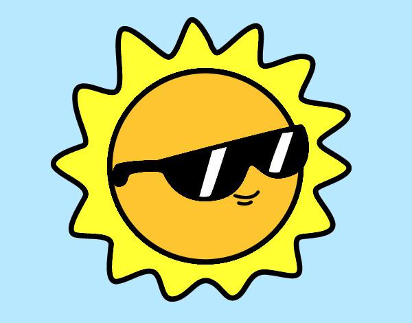 Dibujos Del Sol A Color: Dibujo De Sol Con Gafas Pintado Por Crisgonza5 En Dibujos