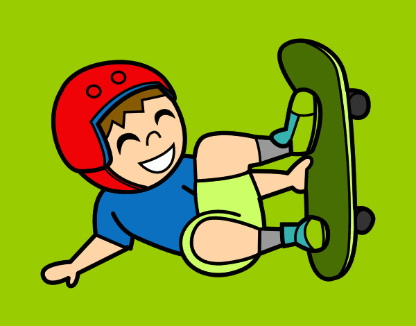 Dibujos De Skate Para Colorear Dibujosnet