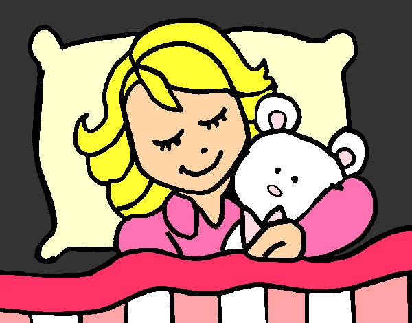 Imagenes De Persona Durmiendo: Dibujo De Niña Durmiendo Pintado Por Sango En Dibujos.net