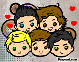 Dibujo One Direction 2 pintado por kinda